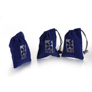 Customized Navy velvet jewelry gift bag with logo