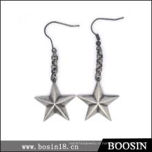 Мода Винтаж Европейский Стиль счастливый Звезда серьги для женщин #21596