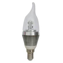 2 años de garantía LED que enciende 3W LED luz de la vela