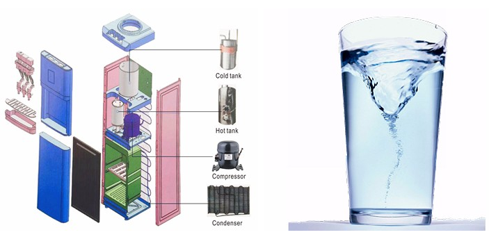 Portable water purifier bottle for water dispenser