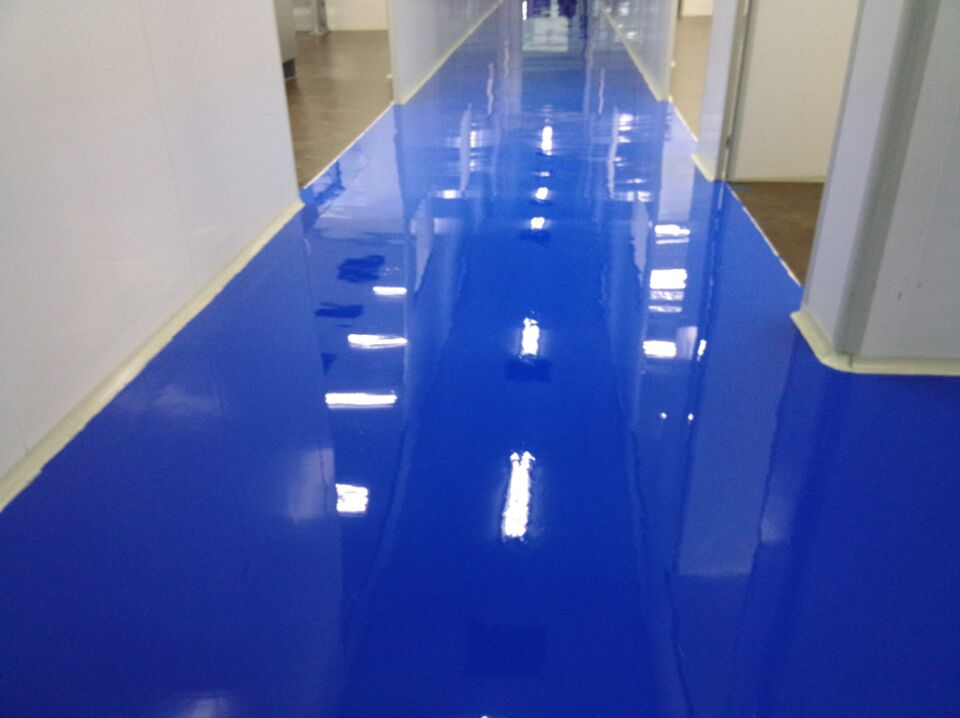 Sky Blue Epoxy Topcoat Material