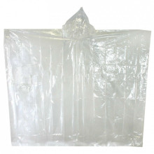 Adult Disposable Plastic Poncho Hujan yang Murah