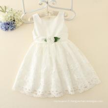 dernière robe de mariée de conception robe de dentelle robe de fête appliqued pour porter des filles de bébé