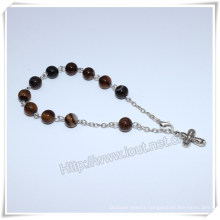 High Quanlity Stone Beads Rosary Bracelet, Catholic Bracelet (IO-CB177)