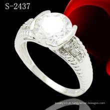 925 anel de diamante jóias de prata esterlina