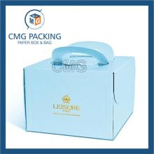 Eco-Friendly Full Color Printed Die-Cutting Handle Cake Box (CMG-cake box-007)