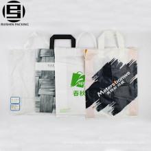 Wholesale blanc pas cher recyclable boucle poignée sac pour faire du shopping