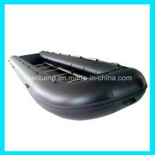 Bateau de sauvetage gonflable grand noir de 8m