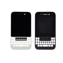 LCD Screen and Digitizer with Frame for Blackberry Q5 Black White