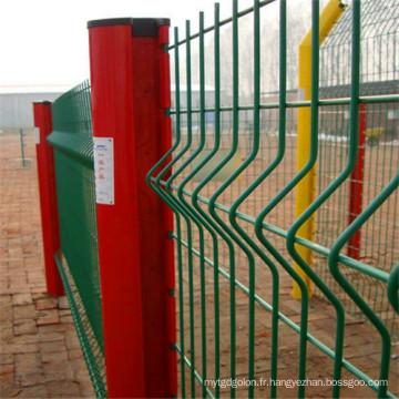 Clôture soudée enduite par PVC de grillage / barrière de recourbement