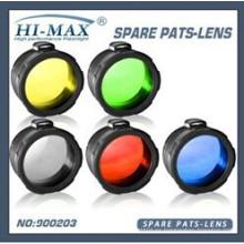 Verde vendedor caliente / rojo / amarillo / azul / blanco heló la lente del filtro de la antorcha de 45m m