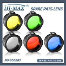 Lentilles de filtre à torche givrées / vert / rouge / jaune / bleu / Blanc