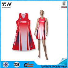 Hochwertige Sublimation Custom Netball Kleid