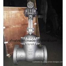 150lb 300lb 600lb Válvula de la puerta de la operación del engranaje cónico de acero fundido