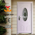 Tempered glass entrance steel door