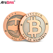 China suppliers product shopping custom design antiqu metal bit coin