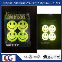 Etiqueta fluorescente sonriente de la luz de la cara de la sonrisa