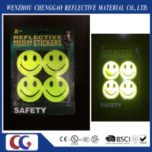 Fluorescent Smile Face Flashing Light Sticker