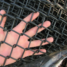 basketball court black chain link fence