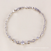 Xuping Rhodium Color Zircon Bracelet Jewelry