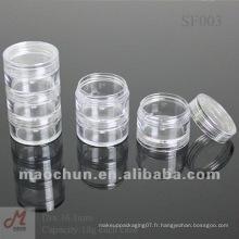 SF004 Pot en carton empilable transparent