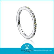 Anel de prata da faixa da eternidade da forma para o dia dos namorados (r-0153)