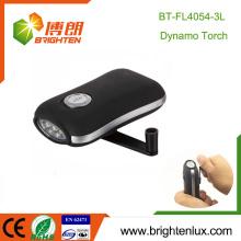 Venta caliente Handheld plástico blanco luz sacudir linterna