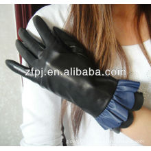 leather gloves,sheep wet blue leather
