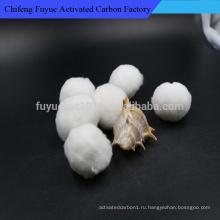 Сырцовое белое Полое волокно/полиэфирное волокно шарик для очистки воды