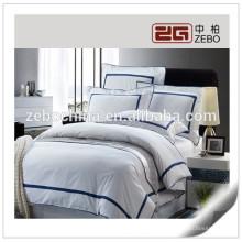 100% algodón 400T Fábrica de suministro barato satinado juegos de cama
