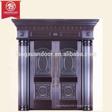 Factory Custom Luxury Front Entry Bronze Door, Double Swing Copper Door