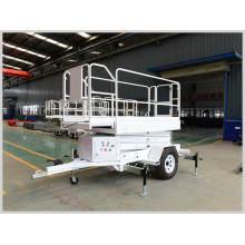 Plate-forme élévatrice hydraulique mobile portative traînée de ciseaux