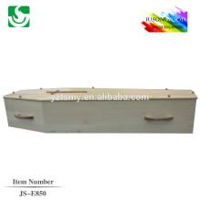simples caixão barato com Cruz de madeira