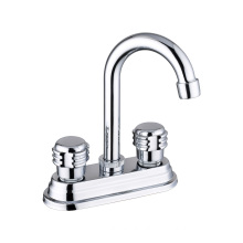 High Quality Silver Plating South Amercian style 4 inch Sink mixer, Cold&Hot water Basin faucet
