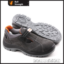 Suede Leather Safety Sandal with Steel Toe Cap (SN5166)