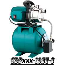(SDP800-10ST-C) Garden Self-Priming Jet Booster Pump with Steel Tank