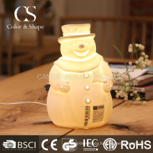Kids table lamp cute smiling snowman desk lamp for children