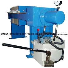 Prensa de filtro Leo Semi-Auto Hydraulic 470 Filter Press de pequeña capacidad para pruebas