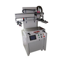 Flat screen printing machine with T-Groove table