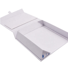 Rectangular book shaped magnetic closure hard custom cardboard packaging rigid gift boxes