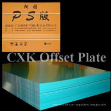 China Cxk Lithographischer Druck PS Platte