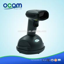OCBS-W800-W Blanc USB 433MHz Scanner de codes-barres laser sans fil avec mémoire