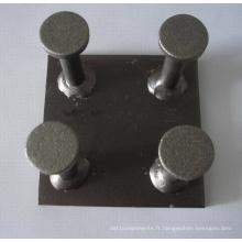 Plaque d'ancrage de fixation en acier préfabriqué en béton (matériel de construction)