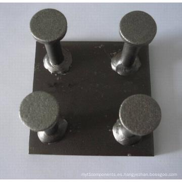 Placa de anclaje de fijación de acero prefabricado de hormigón (herrajes de construcción)