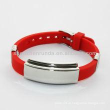 2014 pulseiras coloridas do silicone da saúde por atacado