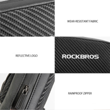 Black Bag Bicycle Front Tube Rack Front Pocket Waterproof Bicycle Bag Large Capacity