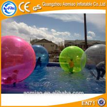 Adultos / crianças água bola zorb, bola de água do boneco de neve com válvula
