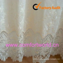 Embroidery Lace Curtain Fabric for windows made of 100% polyester organza