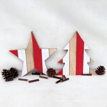 Vente chaude boutique noël en bois suspendre ornement décoration de noël