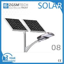 Tipo rachado solar da luz de rua do diodo emissor de luz do picovolt 80W